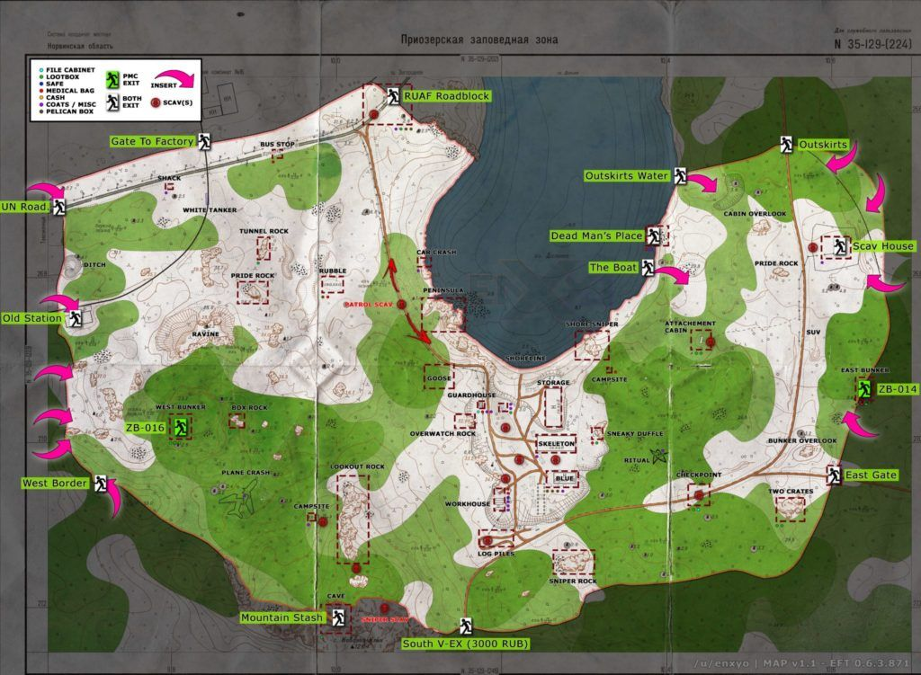Escape From Tarkov Extraction Points